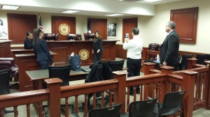 Photo by: Tyler Mendez UT Dallas Student courtroom